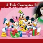 Fotomontaje de Cumpleaños con Mickey, Minnie y amigos