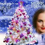 Fotomontaje con árbol navideño
