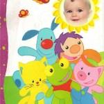 Fotomontaje infantil del Sapo Pepe y amigos