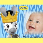 Fotomontaje infantil de Zou cebrita