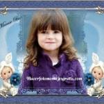 Fotomontaje para decorar fotitos de bebés y niños