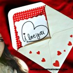 Original fotomontaje de carta de amor