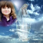 Fotomontaje con la Virgen María