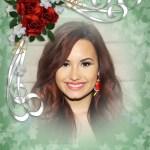 Fotomontaje con tres rosas y pequeños corazones