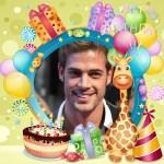 Fotomontaje de Cumpleaños con globos y muchos colores