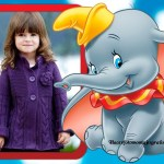 Fotomontaje infantil de Dumbo