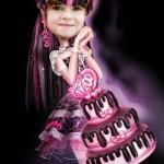 Fotomontaje de Draculaura Monster High para cumpleaños