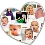 Fotomontaje de corazón para ocho fotos