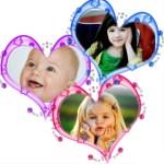 Fotomontaje con tres corazones para editar tus fotos