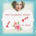 Fotomontaje de Feliz Cumpleaños Mamá