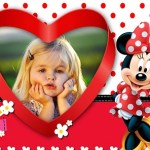 Hermoso fotomontaje de Minnie para crear gratis