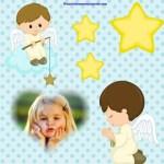 Fotomontaje para bebés con ángeles