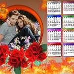 Fotomontaje de Calendario 2015 con rosas