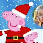 Fotomontaje de Peppa Pig en Navidad