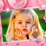 Fotomontaje de cumpleaños con cupcakes