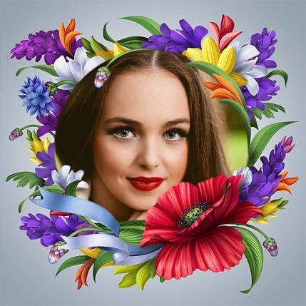Marcos con flores para editar fotos