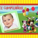 Fotomontajes de Feliz Cumpleaños con Mickey, Minnie, Goofy, Donald y Daisy