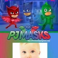Fotomontaje Feliz Cumpleaños PJ Masks