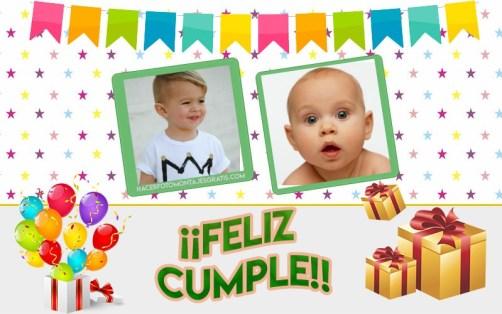 collage dos fotos cumpleaños