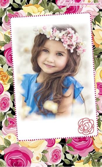 Fotomontajes con flores - efectos para fotos con flores - marcos con flores para editar fotos