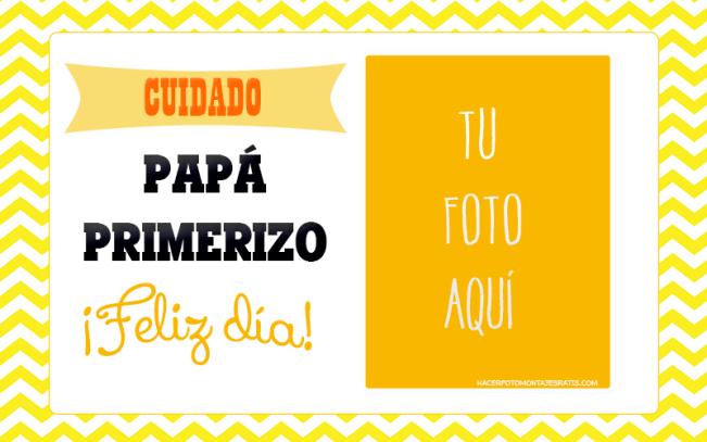 Papa Primerizo feliz Dia