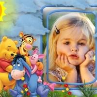 Fotomontaje de Winnie The Pooh y sus amigos