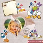 Fotomontaje de Donald y Daisy