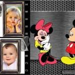 Fotomontaje de Mickey y Minnie para dos fotos