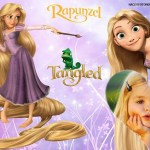 Fotomontaje de Rapunzel para niñas