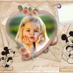 Tierno fotomontaje de Mickey y Minnie
