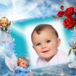 Fotomontaje para bebés con angelitos