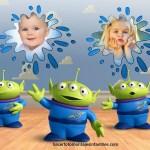 Fotomontaje de Marcianitos de Toy Story