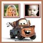 Fotomontaje de Mate de Cars para dos fotos