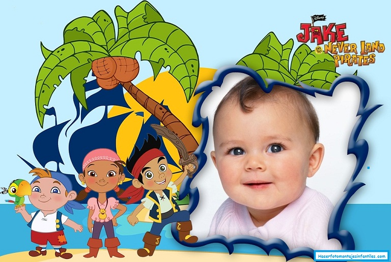 Fotomontaje de Jake y amigos Piratas | Fotomontajes infantiles