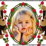 Fotomontaje infantil con dos monitos
