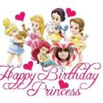 Fotomontaje de Cumpleaños con las Princesas de Disney