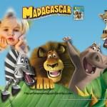 Fotomontaje con los personajes de Madagascar