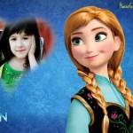 Fotomontaje de Princesa Anna de Frozen