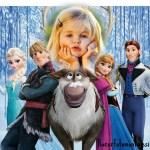 Fotomontaje infantil de la película Frozen