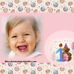 Fotomontaje para Primer Cumpleaños niñas