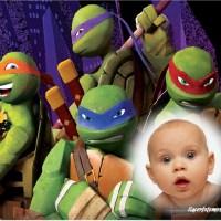 Fotomontaje de las Tortugas Ninjas