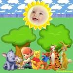 Fotomontaje de Winnie the Pooh y amigos