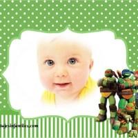 Fotomontaje infantil de Tortugas Ninjas