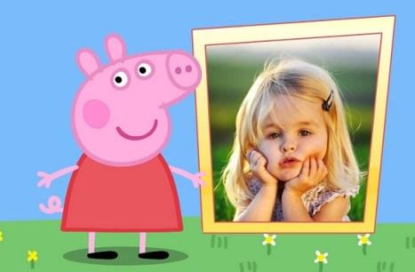 Marcos de peppa Pig para editar fotos