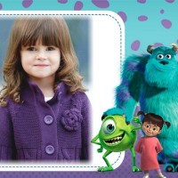 Fotomontaje de Monster Inc con Mike, Sulley y Boo