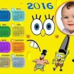 Fotomontaje de Calendario 2016 Bob Esponja