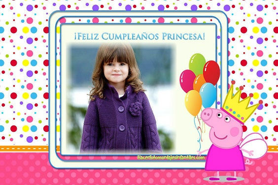 Fotomontajes De Cumpleaños Infantiles Fotomontajes Infantiles