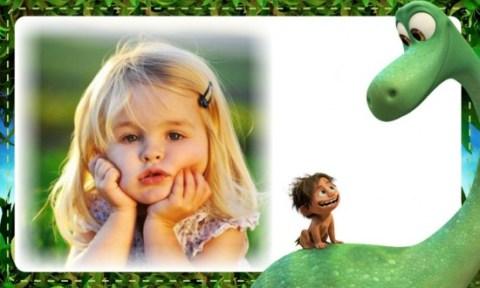 Fotomontaje de Un Gran Dinosaurio - marcos para fotos de Un Gran Dinosaurio - Marcos infantiles dinosaurios - Fotomontajes Arlo y Spot