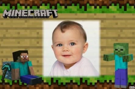 Fotomontajes de Minecraft - Marcos de Minecraft para editar fotos - Fotomontajes para niños gratis