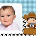 Fotomontaje infantil de niño vaquero